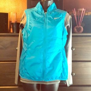 Nike Running long sleeve and vest, both size M
